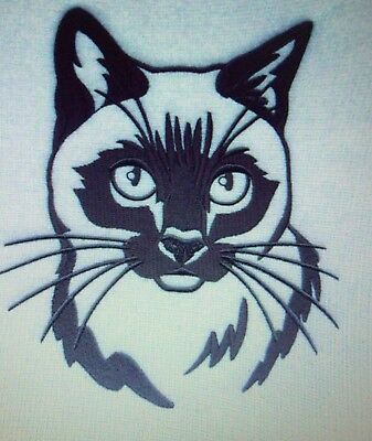 Siamese Cat Personalized Embroidered Gray Fleece Stadium Blanket Beautiful Gift
