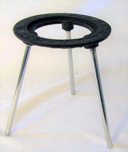 "Lab Bunsen Burner Tripod Cast Iron Support Stand 6"" Height New"
