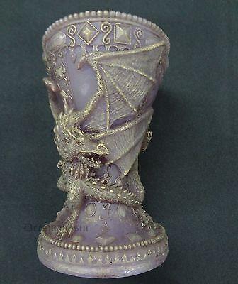 Purple DRAGON Candle Beautiful Unique Tealight Gift By Steve Kehrli