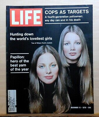 Life Magazine - Nov. 13, 1970 - Eileen Ford models cover - Papillon best (Best Life Magazine Covers)