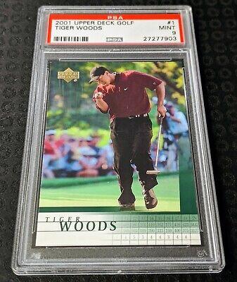 Tiger Woods RC PSA 9 - 2001 Upper Deck #1 - Rookie Card - Mint