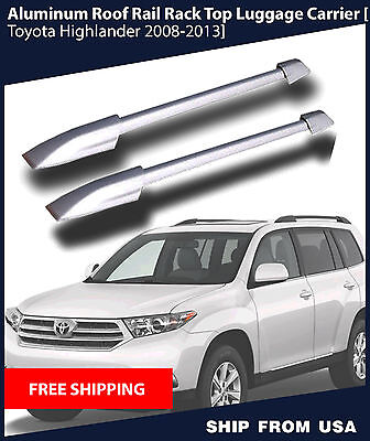 Highlander Roof Rack - For 2008-2013 Toyota Highlander Aluminum OE Style Roof Rack Rails Side Carrier