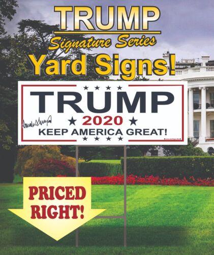 5 Trump 2020 Campaign Political Yard Signs / MAGA / Make America Great Again!