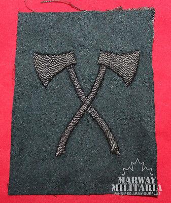WW2 British / Cdn Assault Pioneer Rifle Regiments Cloth Trade Badge (13483)