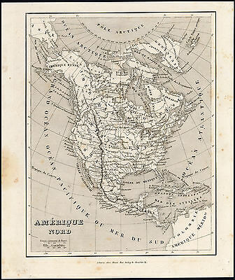 Antique Print-MAP-AMERICA-ICELAND-CUBA-HAITI-CENTRAL AMERICA-Monin & Fremin-1836