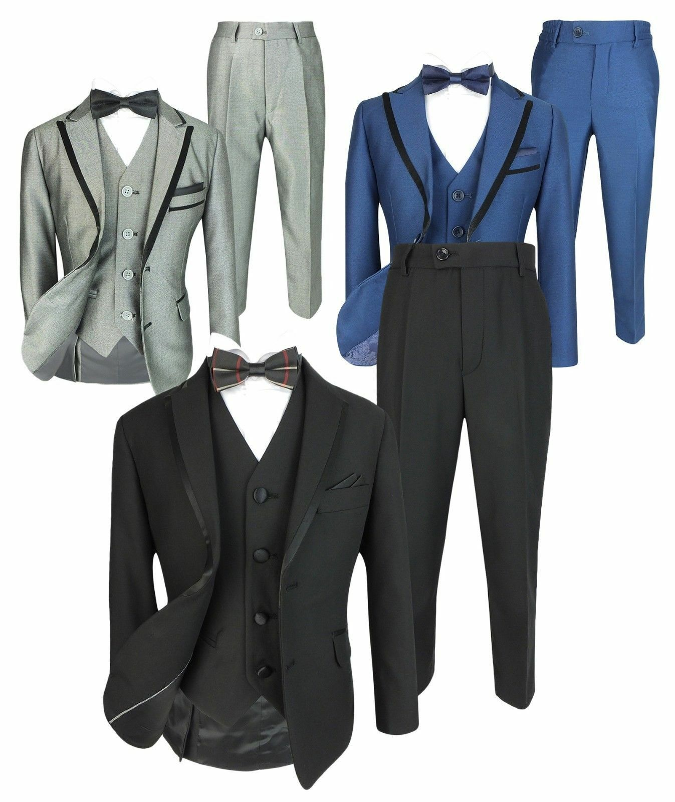 Romano Jungen Slim Fit Smoking Anzug Kinder Hochzeit Prom Party Formal Outfit
