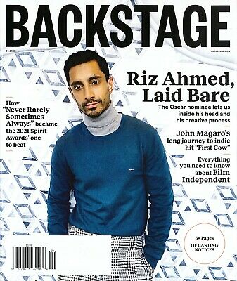 BACKSTAGE MAGAZINE - MARCH 25, 2021 - RIZ AHMED (COVER)