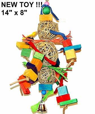 Tri Ball Play pet bird parrot cage toy mini macaw amazon cockatoo quaker parrot