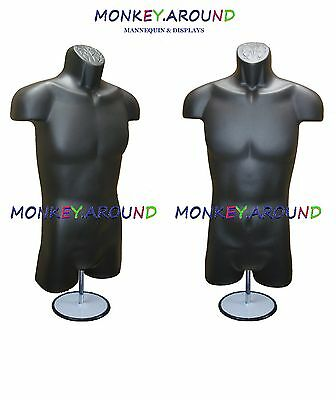Male Mannequin Form Hanger Stand - Body Dress Torso Display Shirt Pant-black