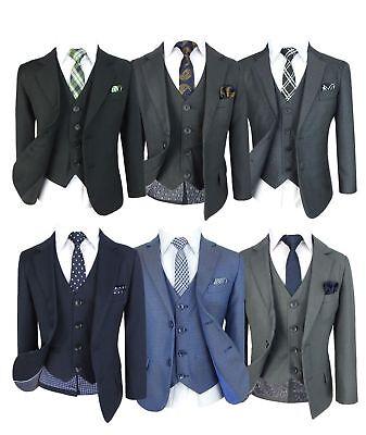 Tailored Fit für Hochzeit Kommunion Prom Jungenanzüge (Kinder Anzüge Für Hochzeit)