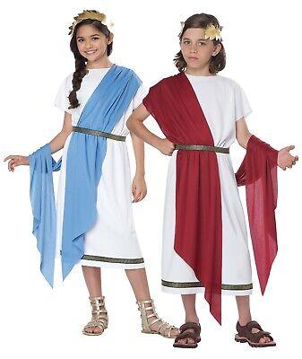Roman Childrens Costumes (Child Basic Toga Roman Greek Costume)
