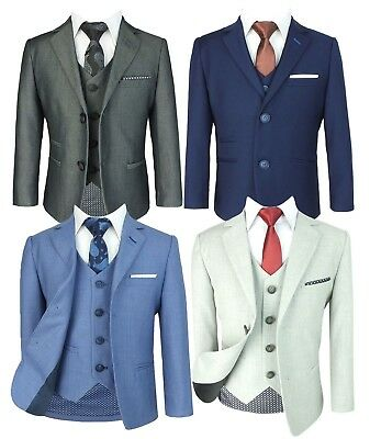 Slim Fit Suits Page Boys Prom Wedding Dinner Age 1 to 15 (Kids Slim Fit Anzüge)