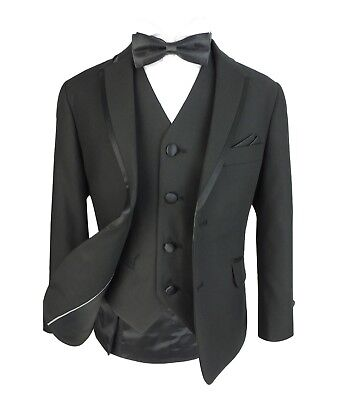 Jungen Smoking Anzug Kinder Anzüge für Hochzeit, Party, Prom in Schwarz
