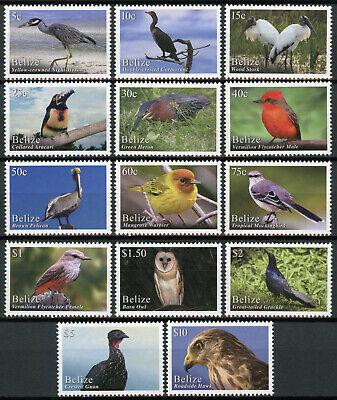Belize Birds on Stamps 2020 MNH Bird Definitives Hawks Owls Pelicans 14v Set