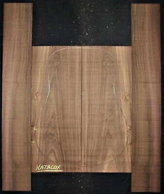 Guitar Luthier Tonewood KATALOX MEXICAN ROYAL EBONY acoustic Backs Sides SET