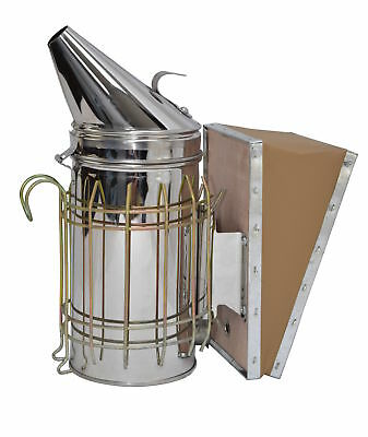 Vivo Bee Hive Smoker Stainless Steel Wheat Shield Beekeeping Equipment
