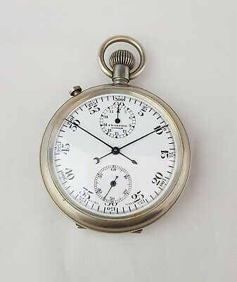 j.w. benson london split second chronograph pocket watch chronometer  for sale  Shipping to Ireland