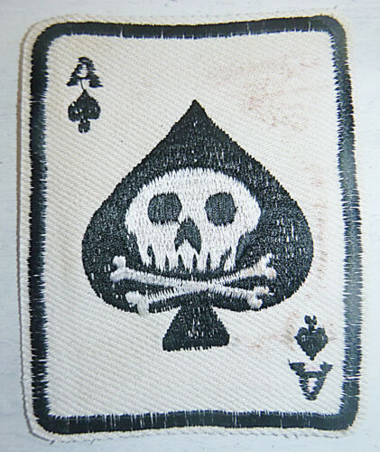 Patch - 101st Airborne - BLACK ACE of SPADES - DEATH CARD - Vietnam War - 4132
