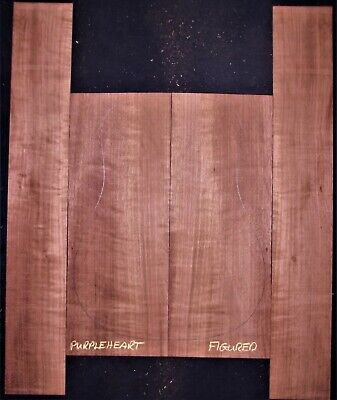 Guitar Luthier Tonewood FIGURED PURPLEHEART Acoustic backs sides SET