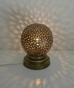 lampe de chevet marocaine laiton lanterne photophore d coration bougeoir fer ebay. Black Bedroom Furniture Sets. Home Design Ideas