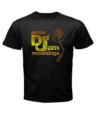 new DEF JAM recording retro classic rare logo mens t-shirt black size S to 3XL