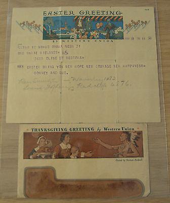 1930S Telegram Envelope Norman Rockwell Art Artist Thanksgiving