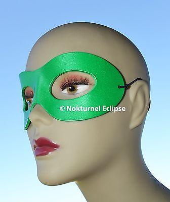 Green Leather Mask Superhero Lantern Masquerade Justice League Halloween Costume - Green Superhero Mask