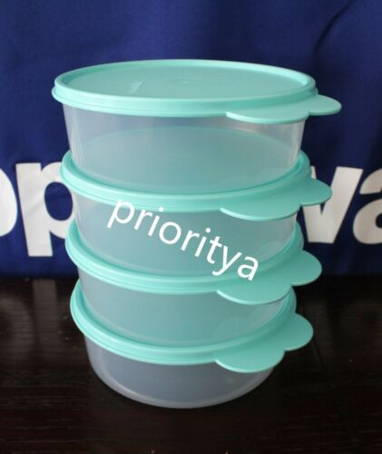 Tupperware Big Wonders Bowl 3 cup / 700ml Set 4 Turquoise Seal New in Package