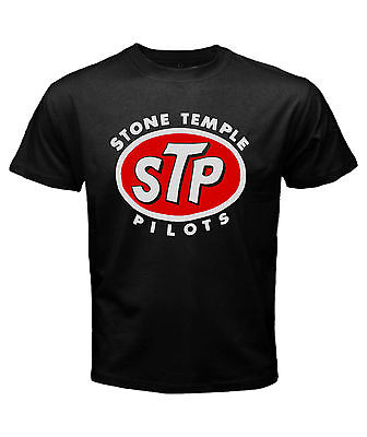 Clothing, Shoes & Accessories T-Shirts Stone Temple Pilots Smoke Logo Men's Long Sleeve Black T-Shirt Size S to 3XL
