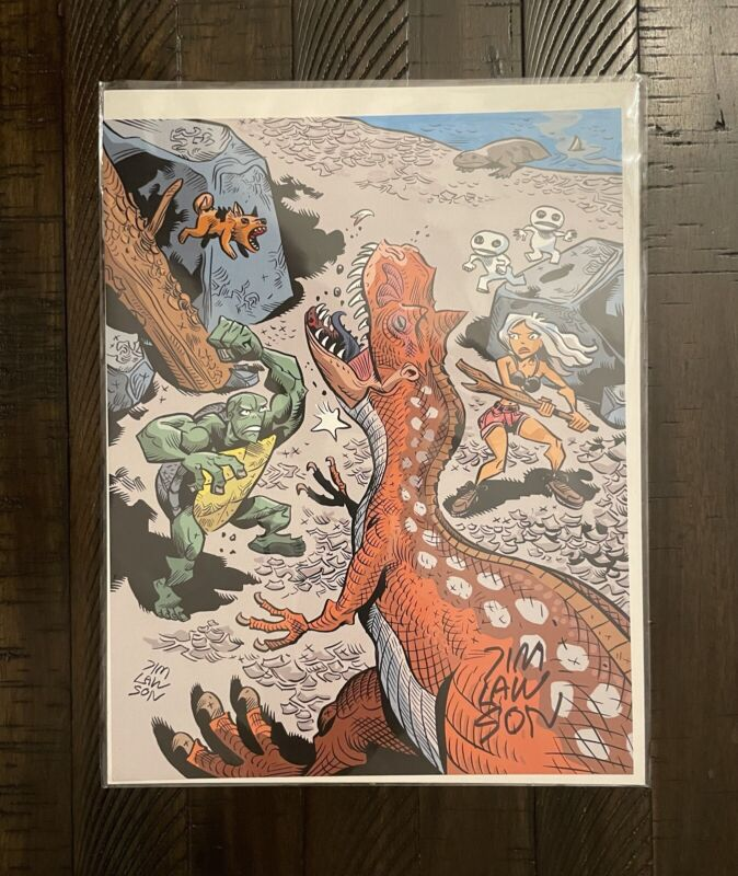 *SIGNED* Jim Lawson Dragonfly Kickstarter Exclusive 8x10 Full Color Print