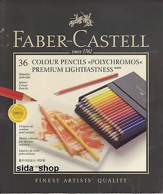 36 Faber-Castell POLYCHROMOS Farbstifte Künstlerfarbstifte Atelierbox