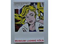 1965 by Roy Lichtenstein Art Print Pop Poster 12x12 M-Maybe a Girl/'s Picture