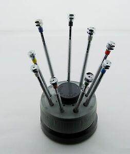 9 screwdriver for rolex watch set stand extra blade tool ebay. Black Bedroom Furniture Sets. Home Design Ideas