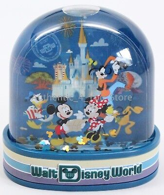 NEW Walt Disney World Parks Mickey & Friends Castle Plastic Snow Globe Snowglobe (Plastic Snow Globes)
