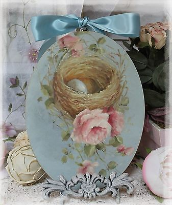 "Nest & Roses"" ~ Vintage ~ Shabby Chic ~ Country Cottage style ~ Wall Decor Sign"