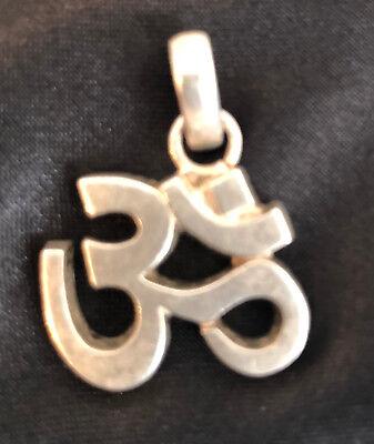 Vintage Sterling Silver OM Pendant