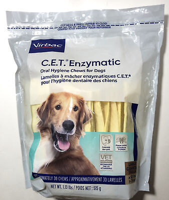 CET Enzymatic Oral Hygiene Chews for Large Dogs 51+ Pounds Exp: 1/2024