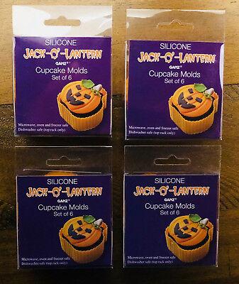 Halloween Pumpkin Jack-O-Lantern Silicone Cupcake Molds - Set of 24](Halloween Cupcakes Jack)