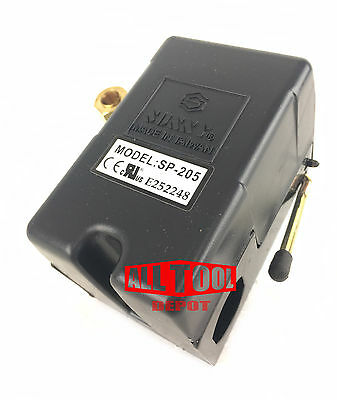 Replacement Air Compressor Pressure Switch Sunny L1 1 Port 95-125 Psi 25 Amp