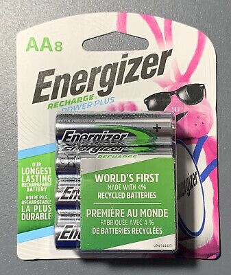 ENERGIZER AA RECHARGEABLE  BATTERY 8 PACK BATTERIES NEW IN ORIGINAL PACKAGING
