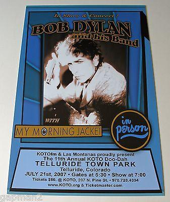 Bob Dylan My Morning Jacket 2007 KOTO Telluride Colorado Concert Poster
