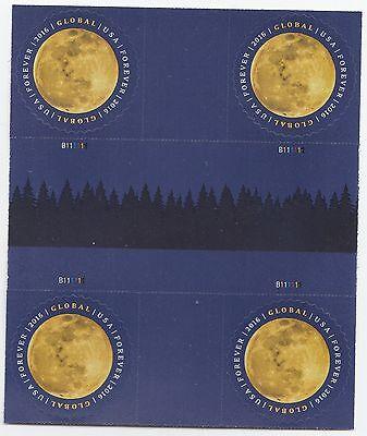 US 5058 Moon global forever cross gutter block MNH 2016