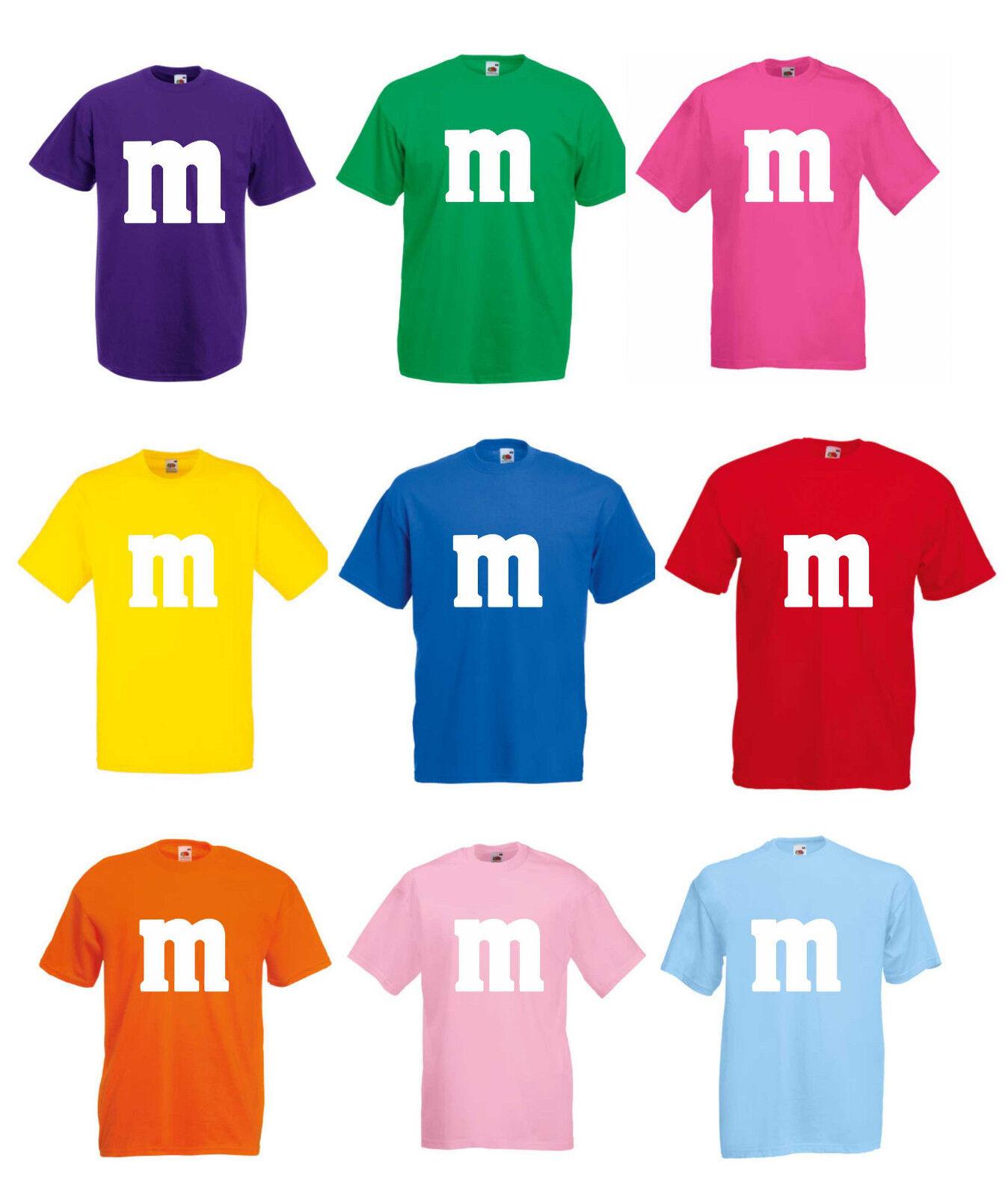 Gruppenkostüm Paarkostüm für M&M Fans Karneval Fasching Damen Herren