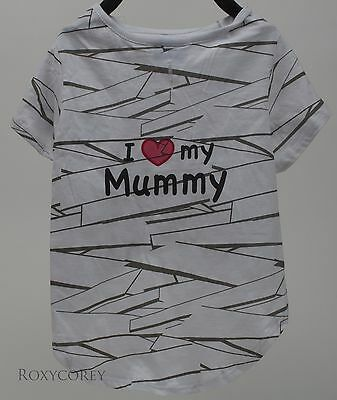 Halloween Fab Dog I love Mummy Pet Dog Shirt Costume Size Medium - Mummy Dog Costume