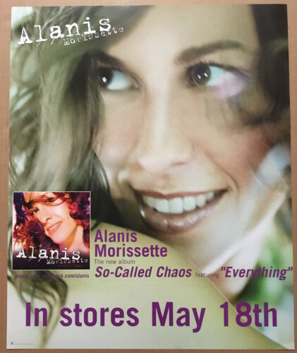ALANIS MORISSETTE Rare 2004 PROMO POSTER for So called CD 18x22 w/ RELEASE DATE