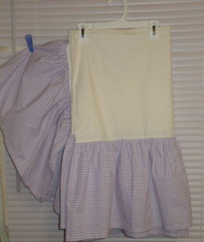 Pottery Barn Kids Purple with White Gingham Crib Dust Ruffle/Crib Skirt