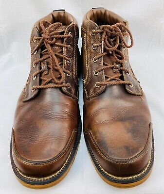 Timberland Earthkeepers Larchmont Mens Size 11 Brown Leather Boots Chukka -