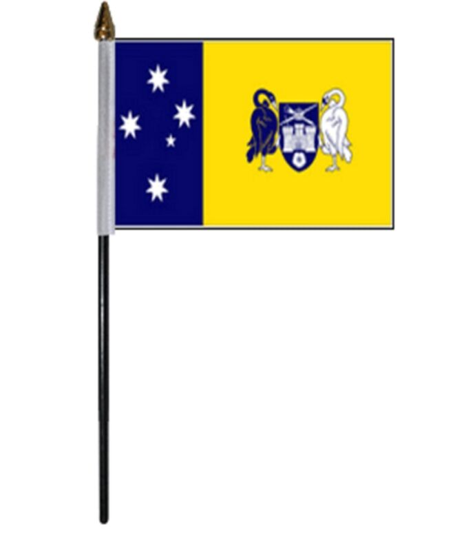 "CAPITAL TERRITORY AUSTRALIA SMALL HAND WAVING FLAG 6""X4"" flags AUSTRALIAN"