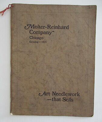 1924 Molter Reinhard Company Catalog Art Needlework, Designs, Hemstiched, Vintag