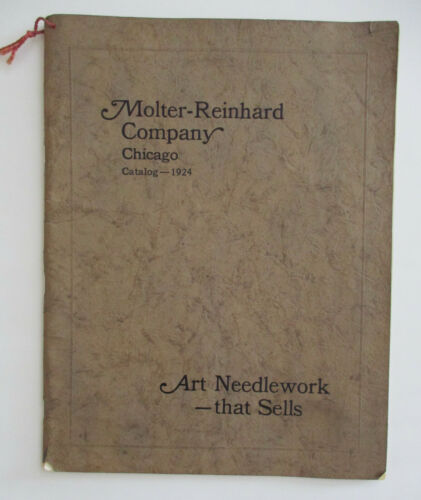 1924 Molter Reinhard Company Catalog Art Needlework, Designs, Hemstiched, Vintag